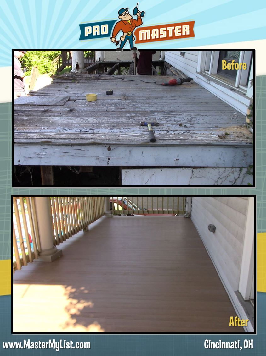 Porch Repair Cincinnati Oh 513 322 2914 Call Promaster