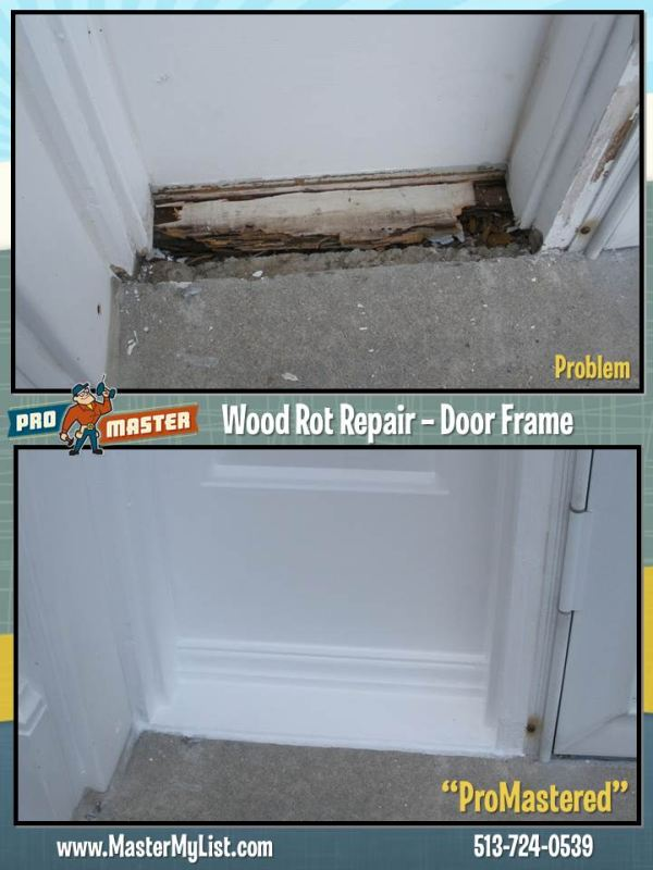 door frame wood rot repair promaster cincinnati