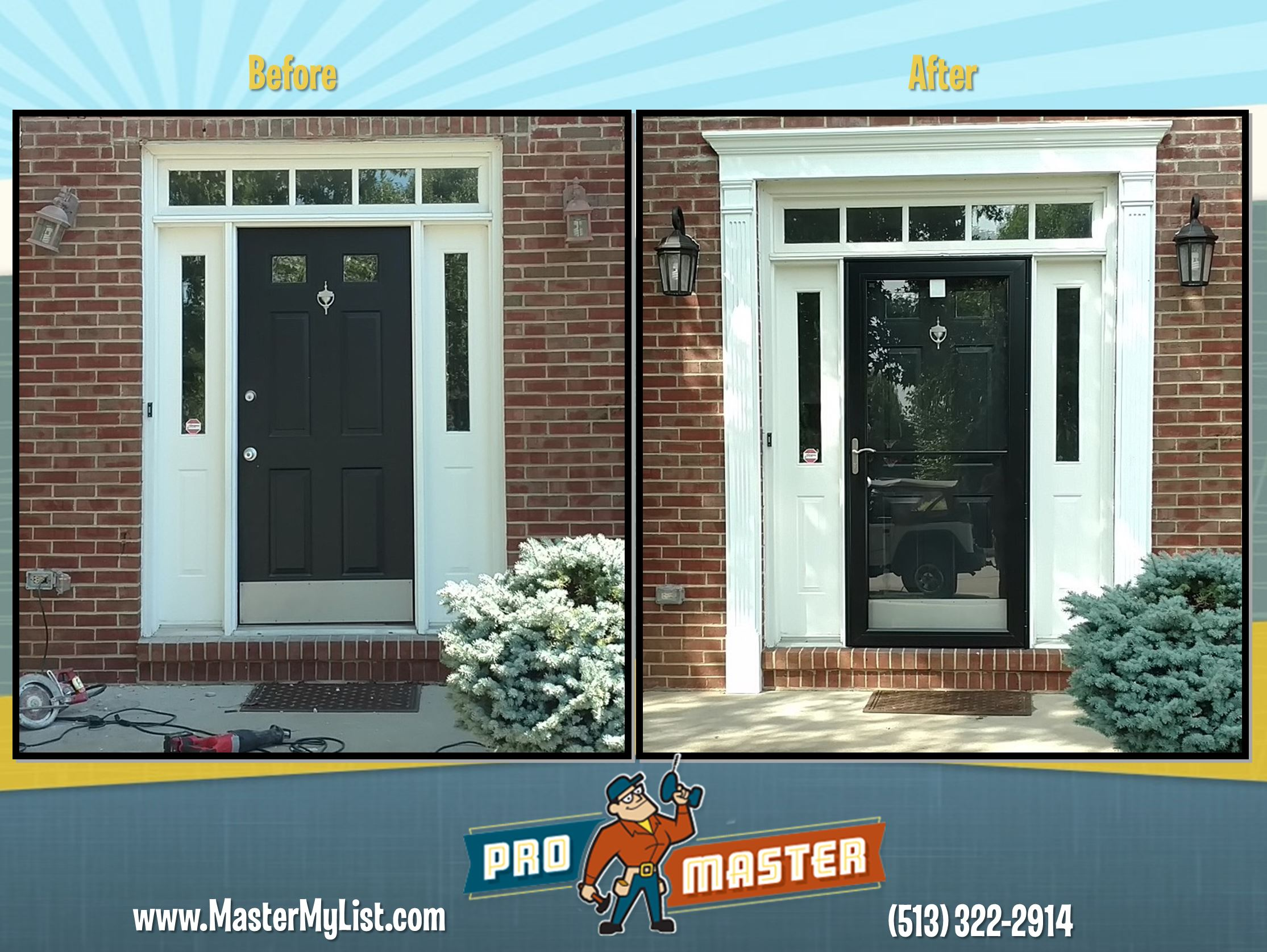 Entry Door Trim Repair Promaster Home Repair Cincinnati