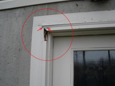Door Frame Corner Damage