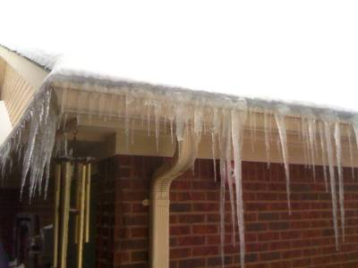 Ice Dams That Caused Ceiling Drywall Damage