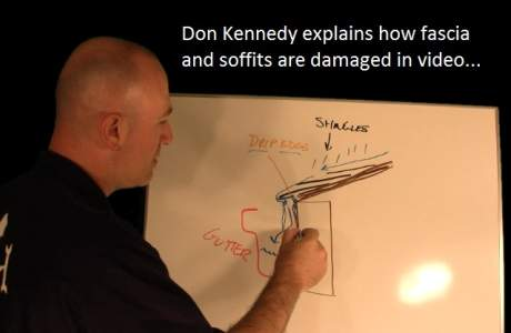 Don Kennedy explains fascia and soffit rot