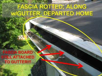 Fascia and Gutter Pulling Away