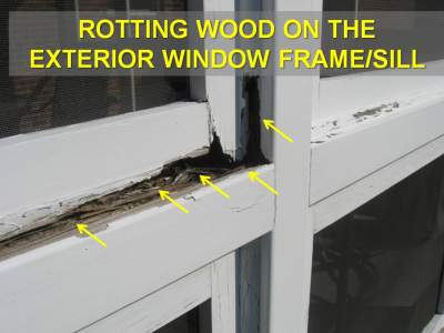 Water Causing Major Window Frame Rot