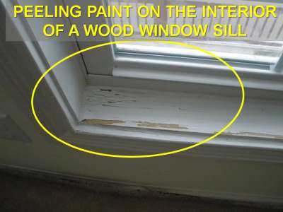 Window Sill with Peeling Paint