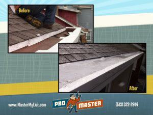 box gutter liner before & after promaster cincinnati